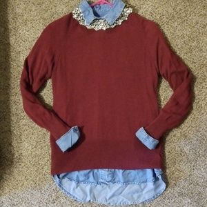 Mossimo maroon colored sweater